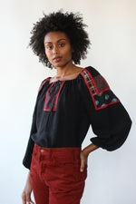 Gunnies Patchwork Peasant Blouse M/L