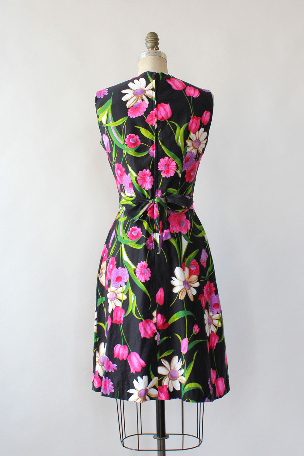 Vibrant Floral Cotton Pocket Dress S/M
