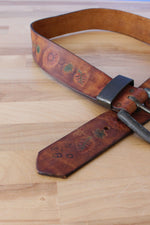 Hearty Tooled Leather Belt