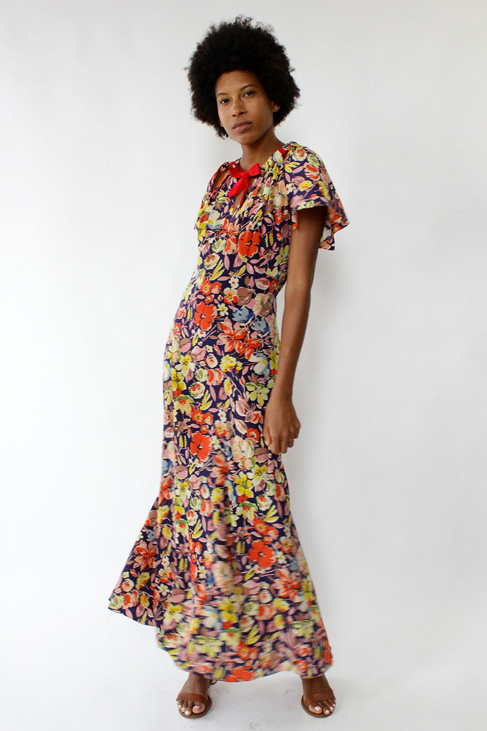 Enchanted Floral Maxi Dress S