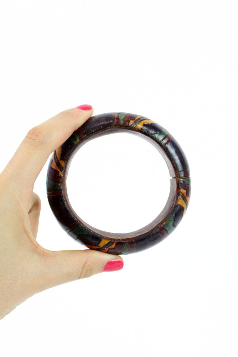 leather deco bangle