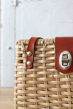 Wicker Cordovan Handbag
