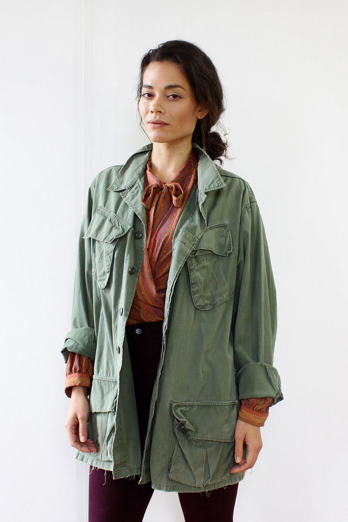 Lindsey Slouchy Army Jacket