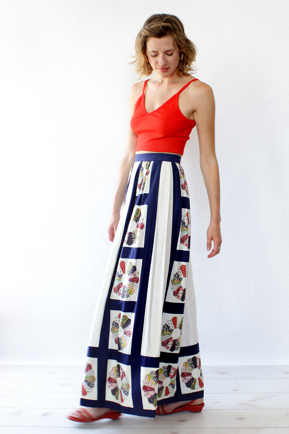 Victor Costa Quilting Bee Skirt XS