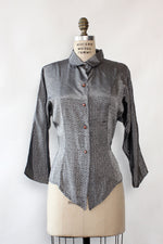 Hot Stuff Pewter Tail Blouse M