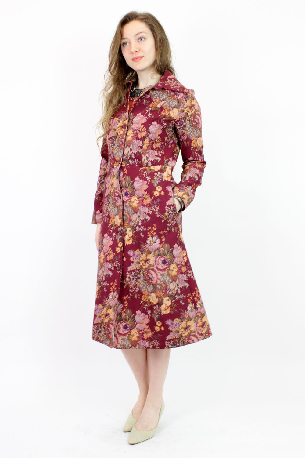 floral tapestry coat