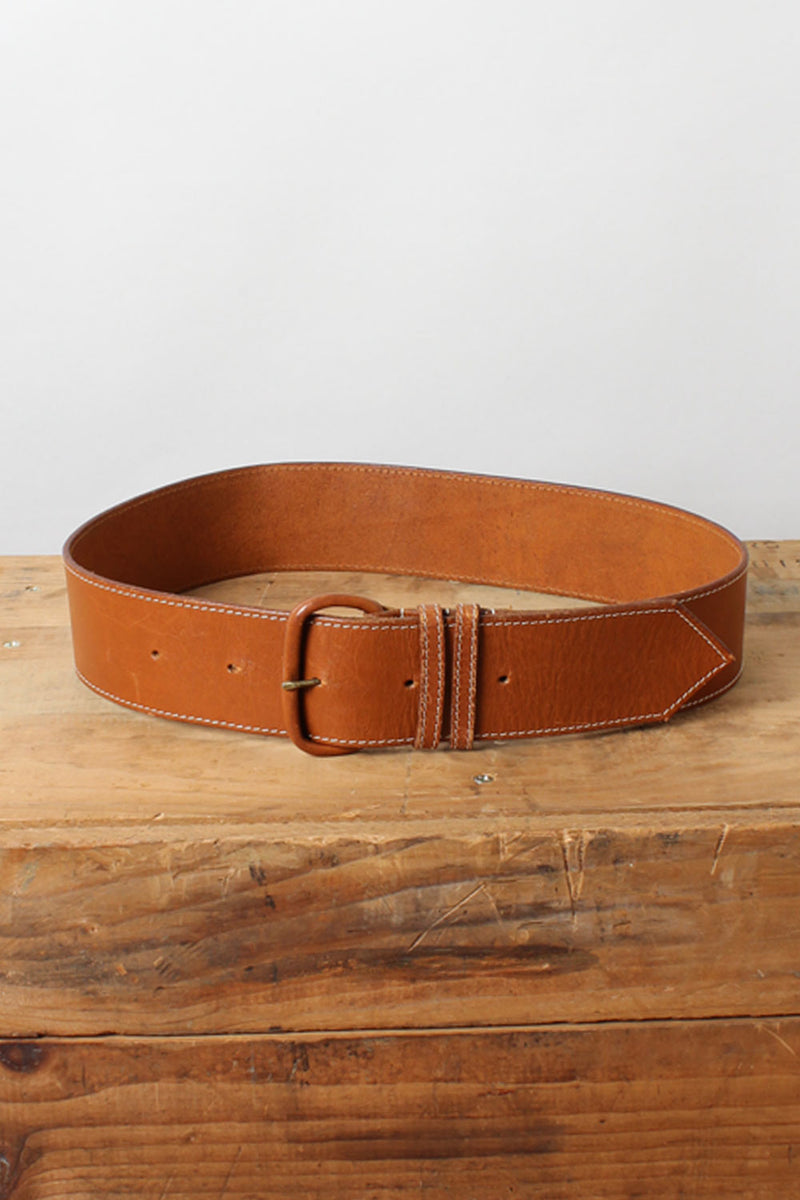 Caramel Wide Leather Belt