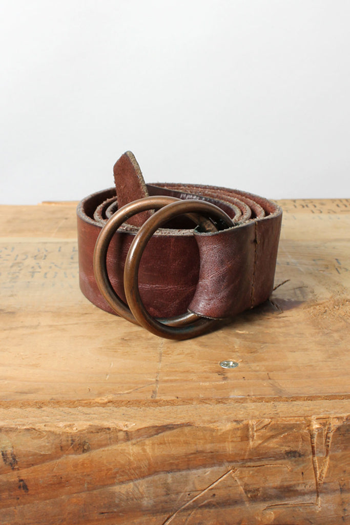 Wine Leather O-ring Belt