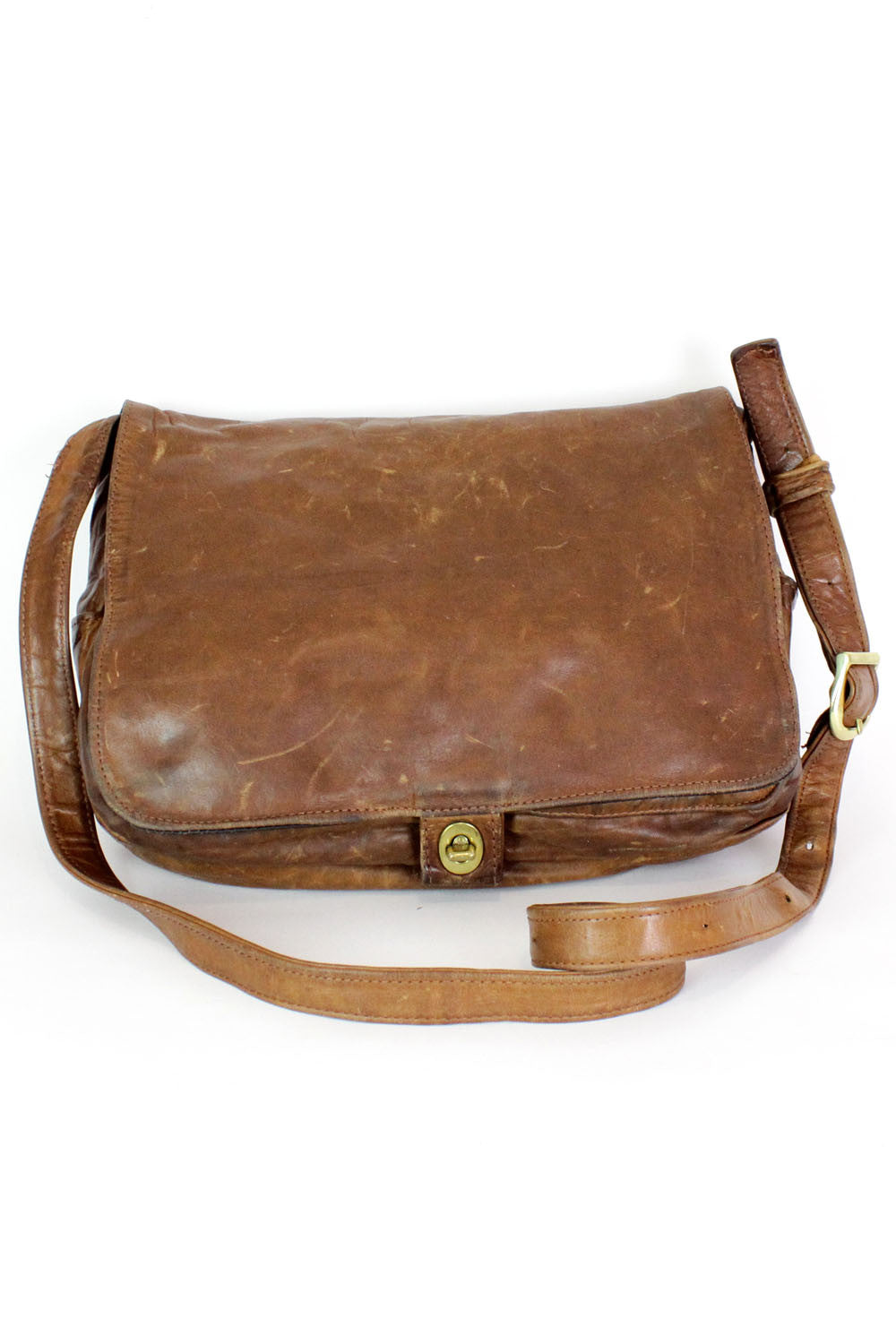 Saddle Leather Messenger Bag