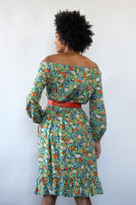 Cotton Wildflower 70s Dress S-L