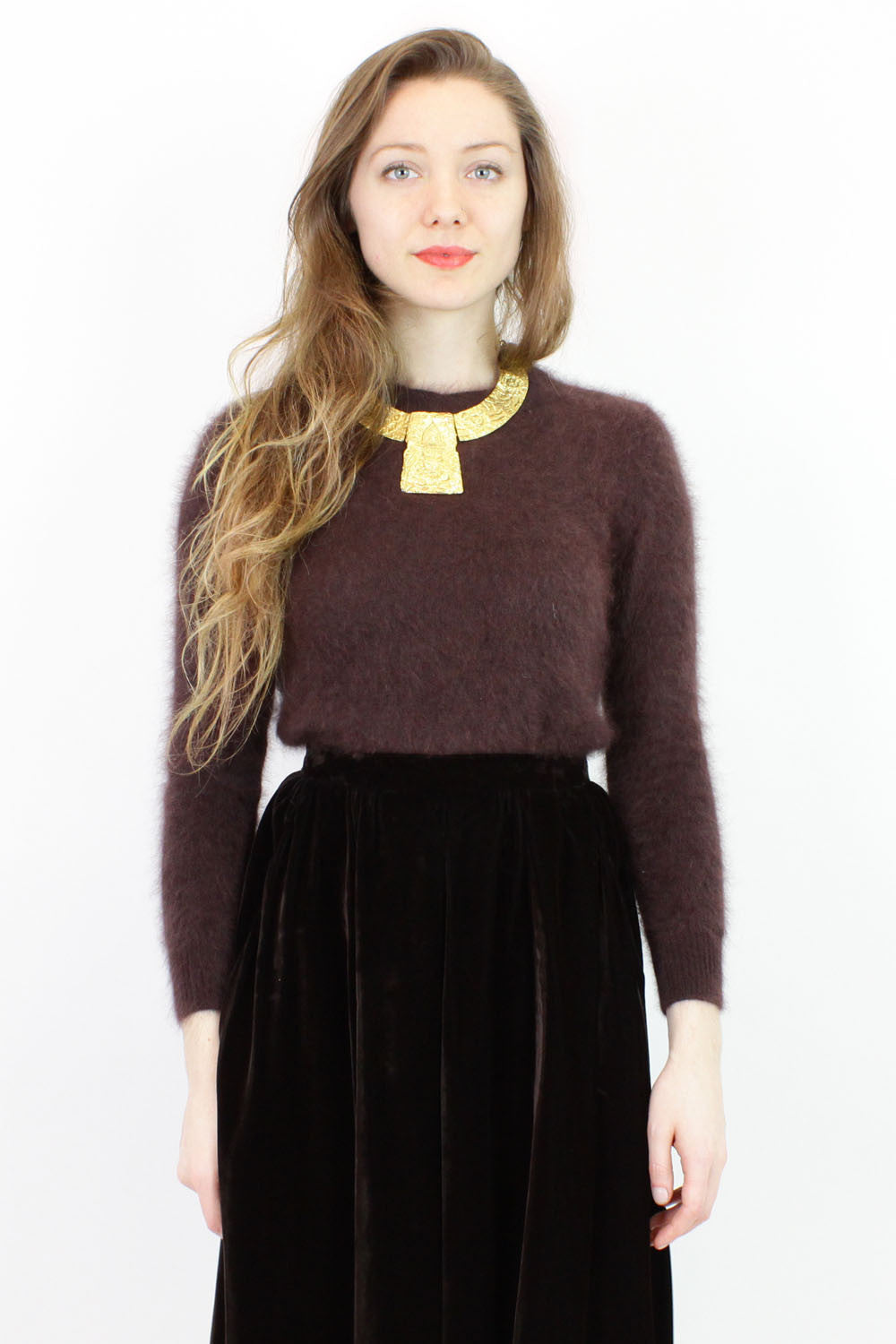 fuzzy brown sweater XS/S