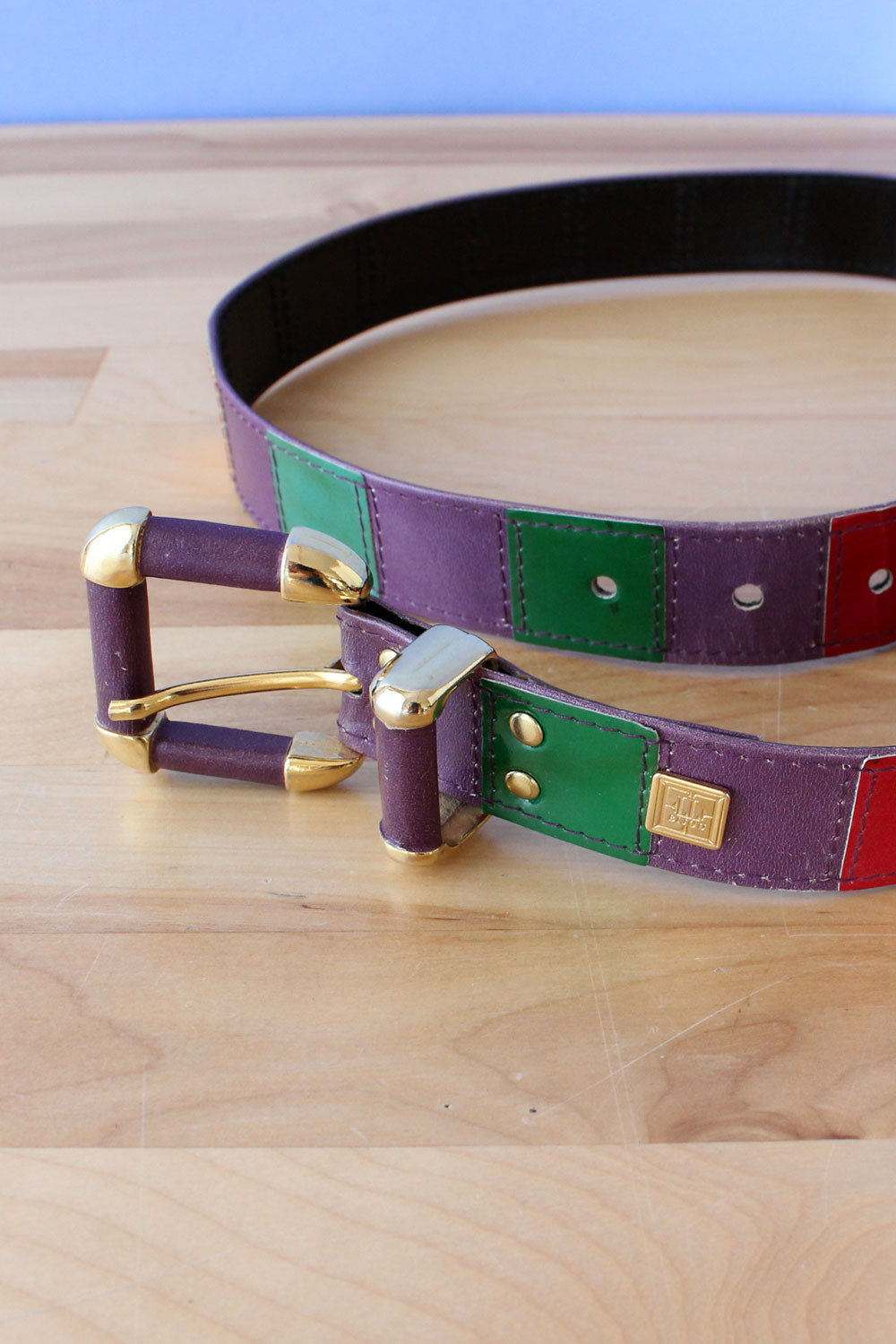 Viennese Color Block Belt