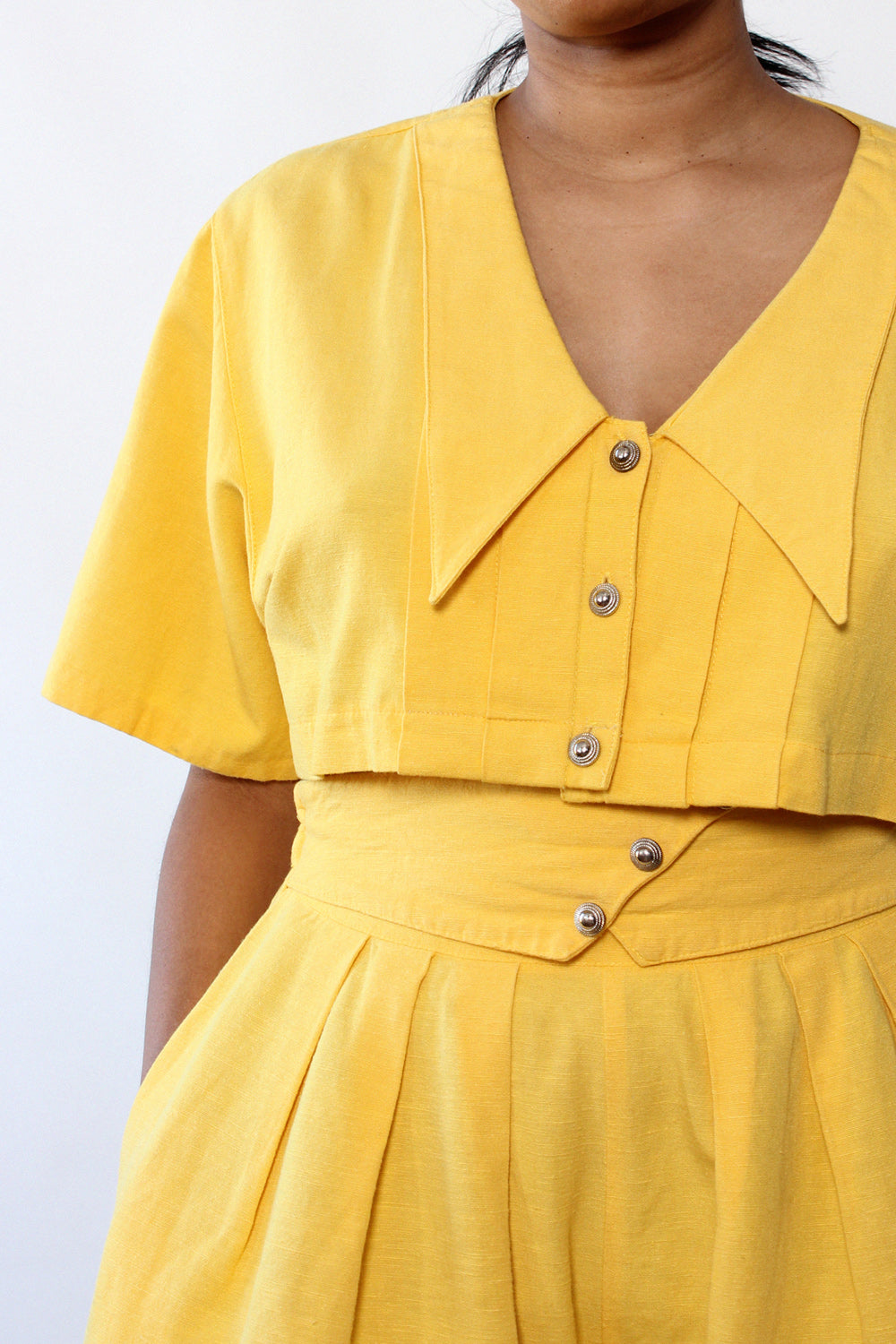 Canary Yellow Shorts Set L