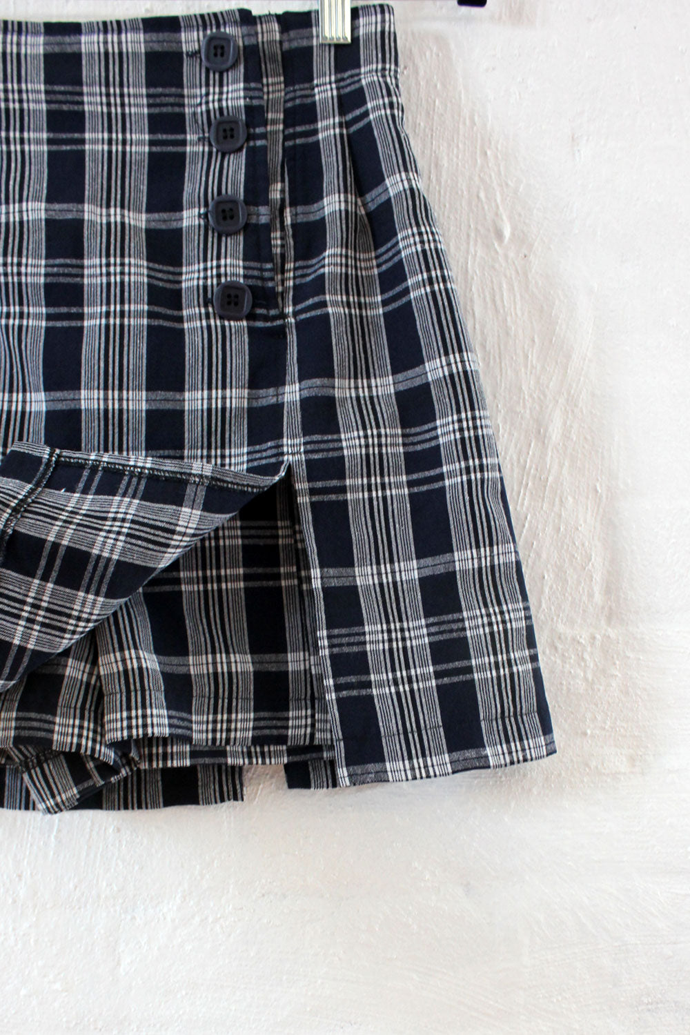 Navy Plaid Short Skort S
