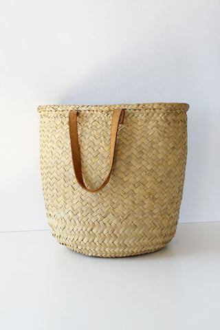 Woven Meadow Basket Bag