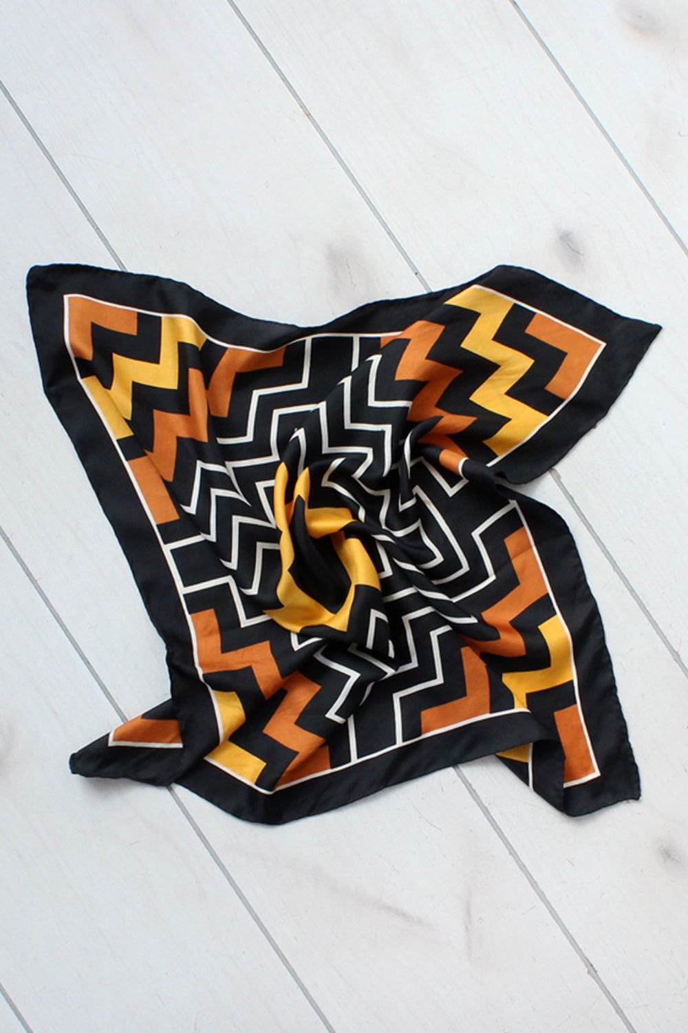 October Silk Chevron Scarf