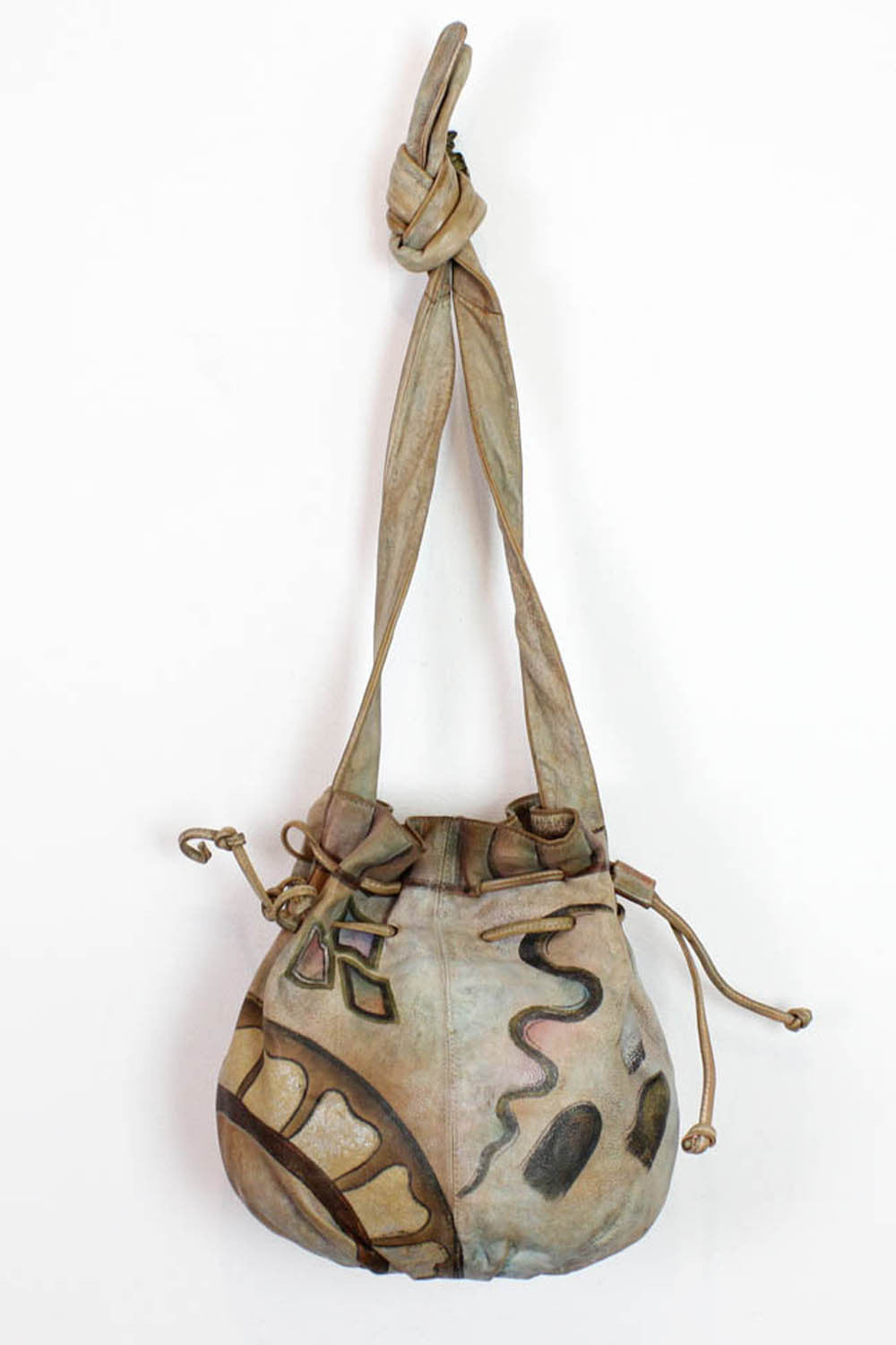 painted bucket bag
