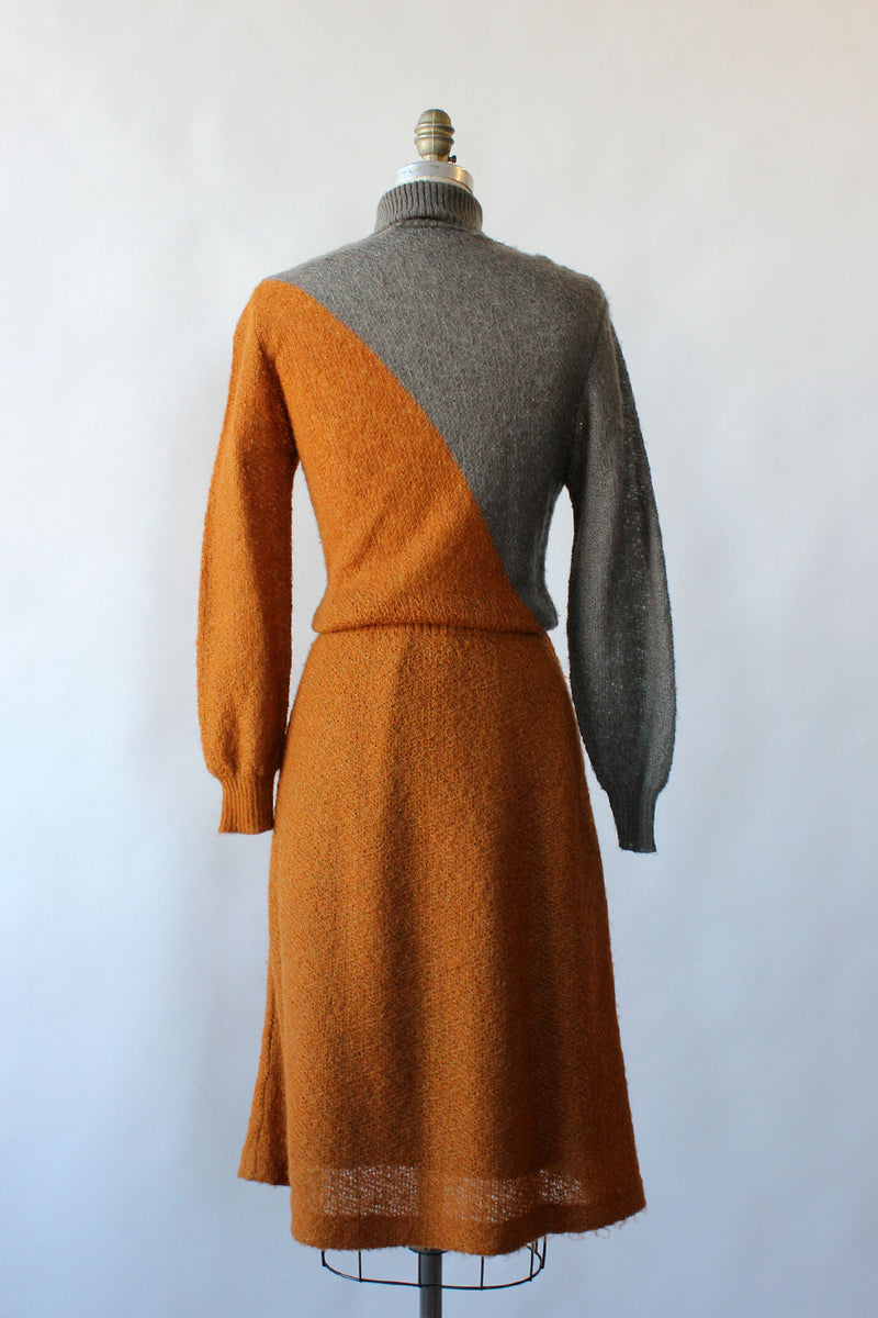 Two Tone Antler Sweaterdress S-L