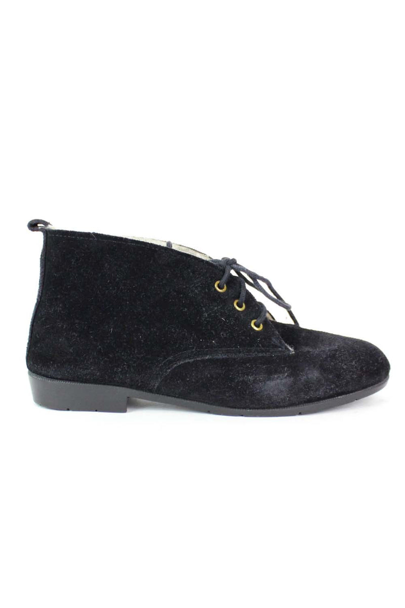 Black Suede Winter Booties 6
