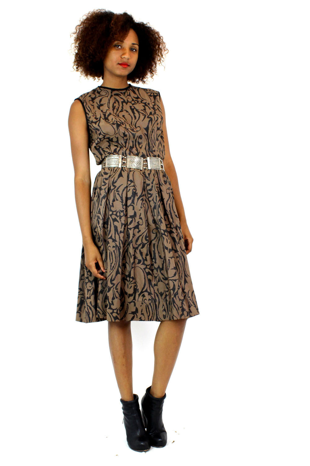 Imara pattern day dress M