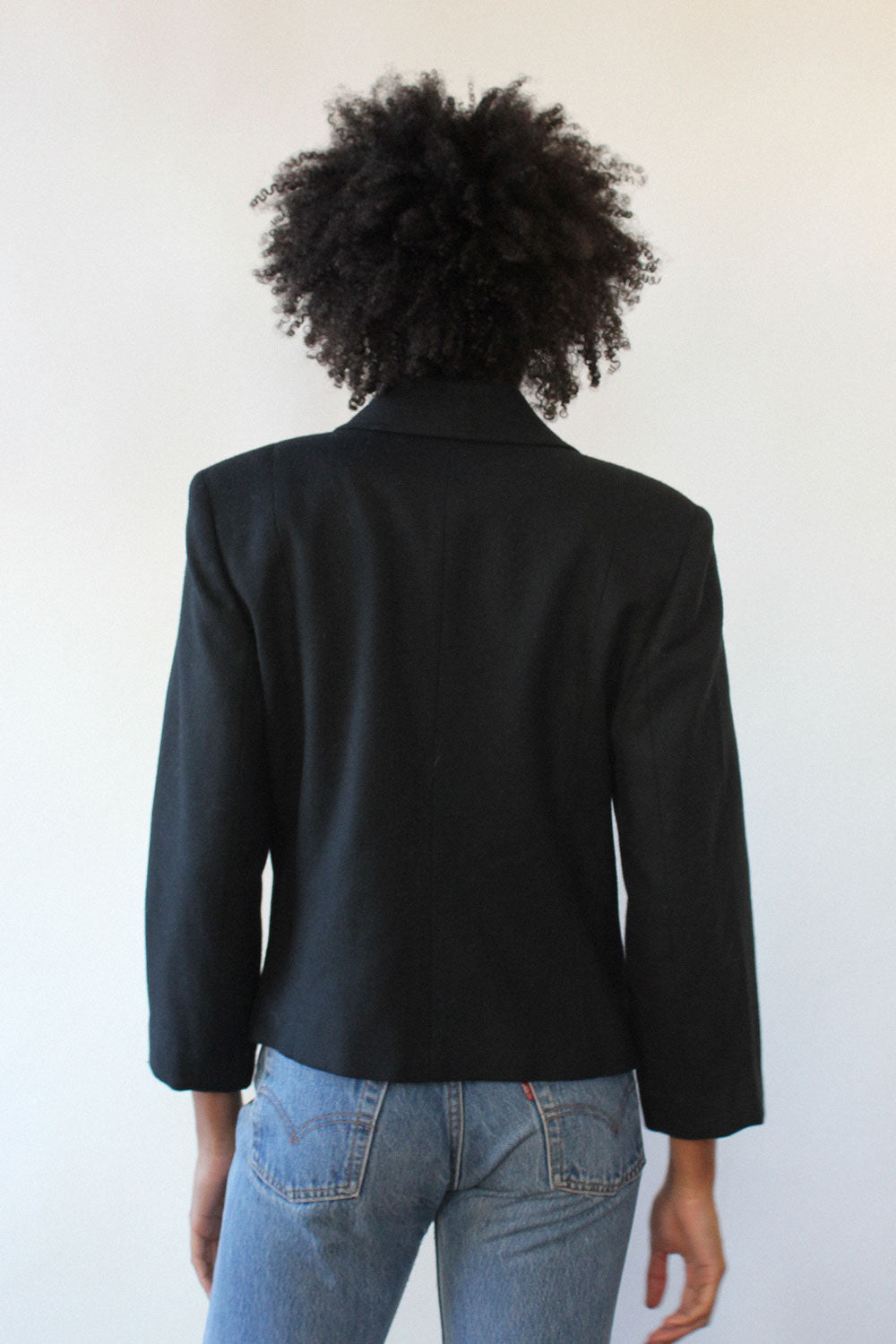 Cropped Pea Coat S/M