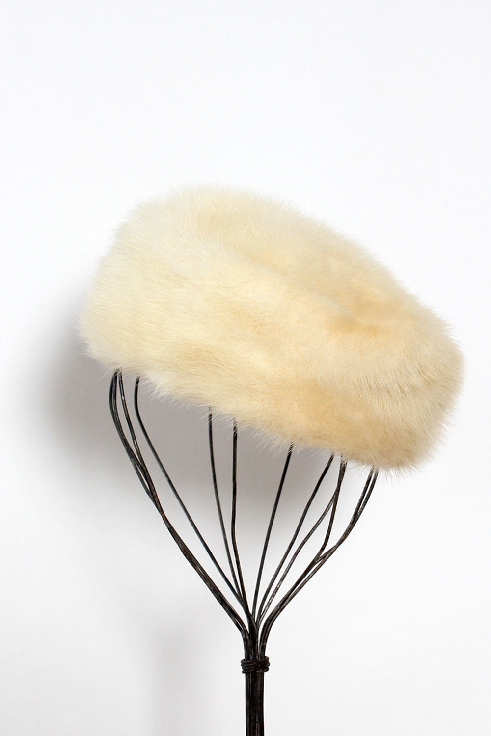 Facon Mink Pillbox Hat