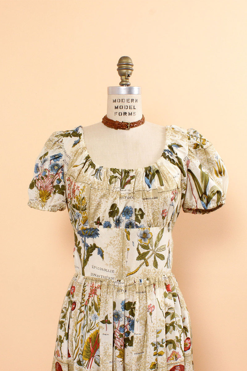 Serbin Botanical Print Dress M