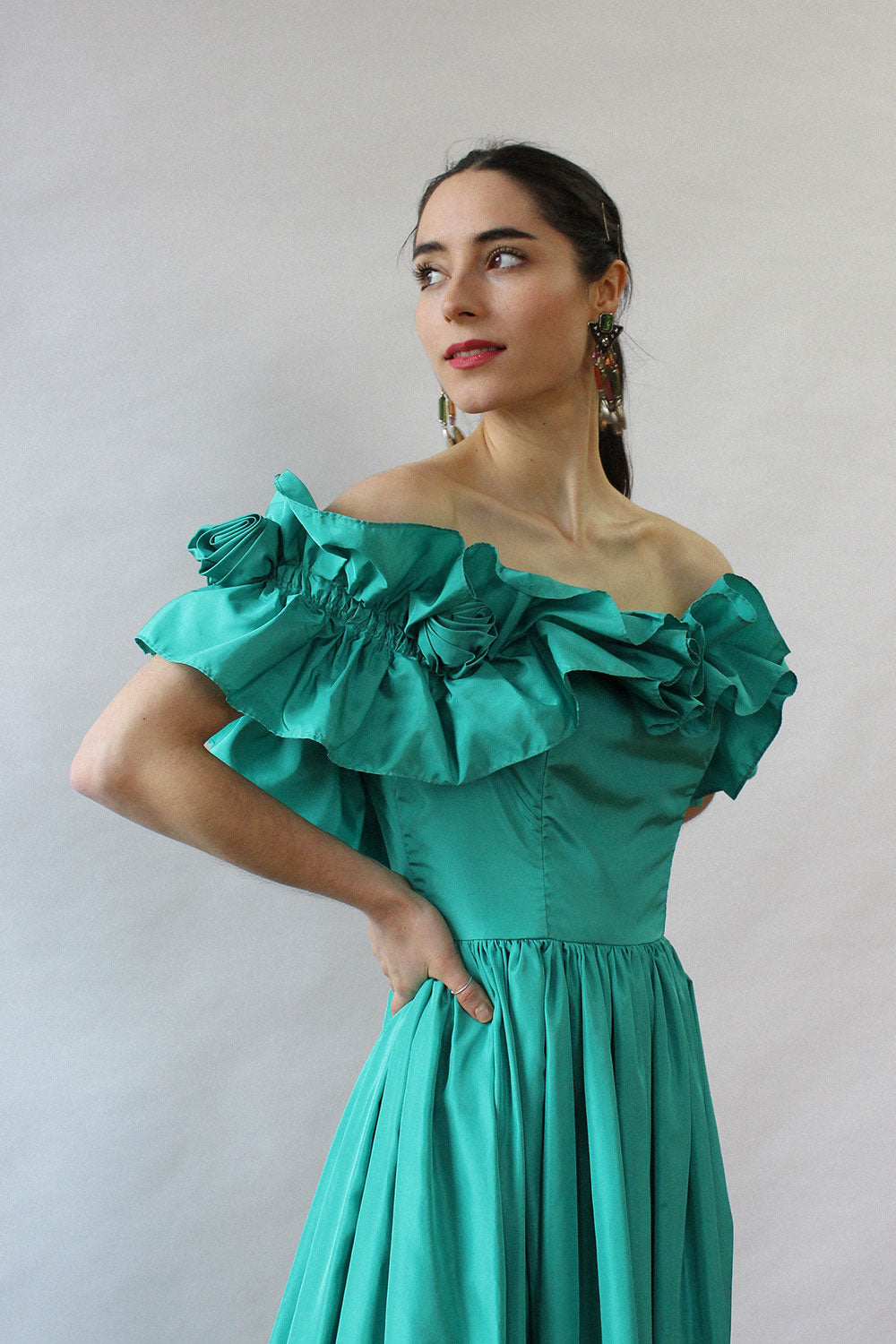 Spring is in the Air Taffeta Dress S