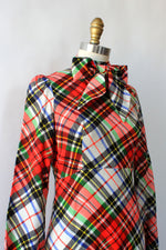 Clobber of London Plaid Pussybow Dress XS