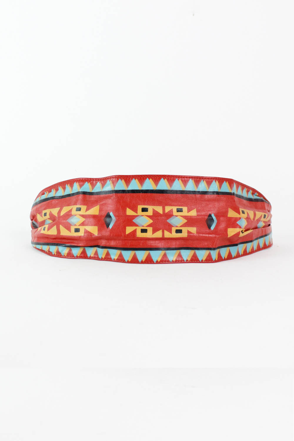 Painted Aztec Cinch Belt