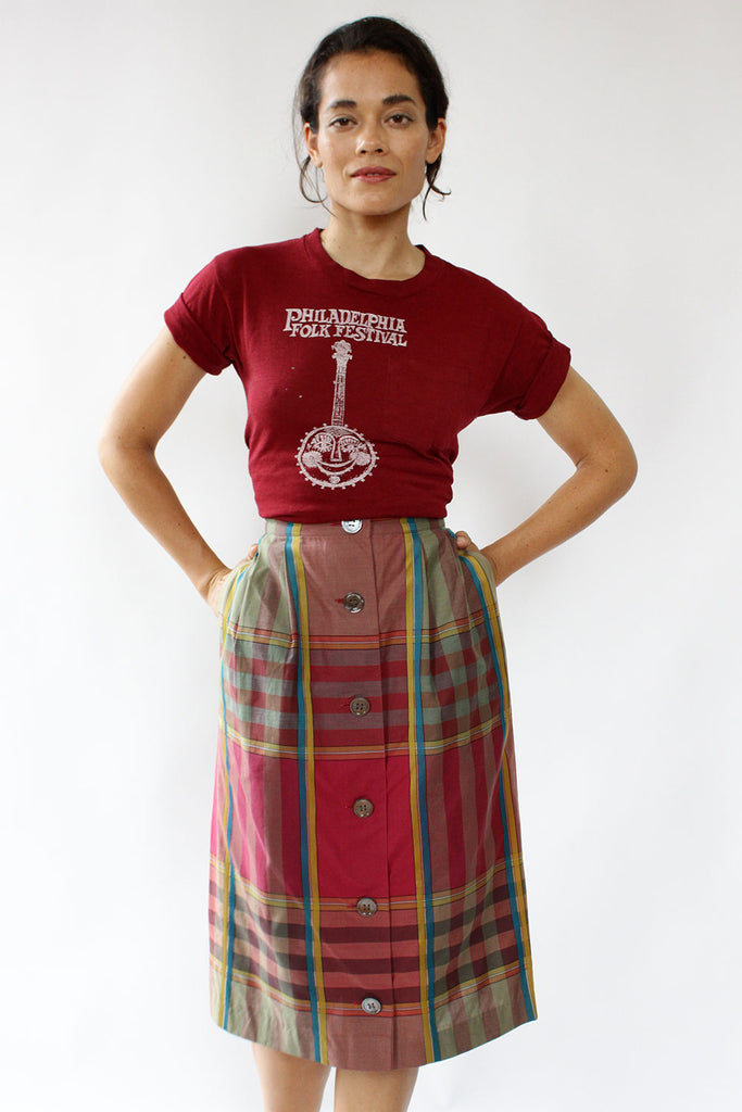 Perry Plaid Skirt XS