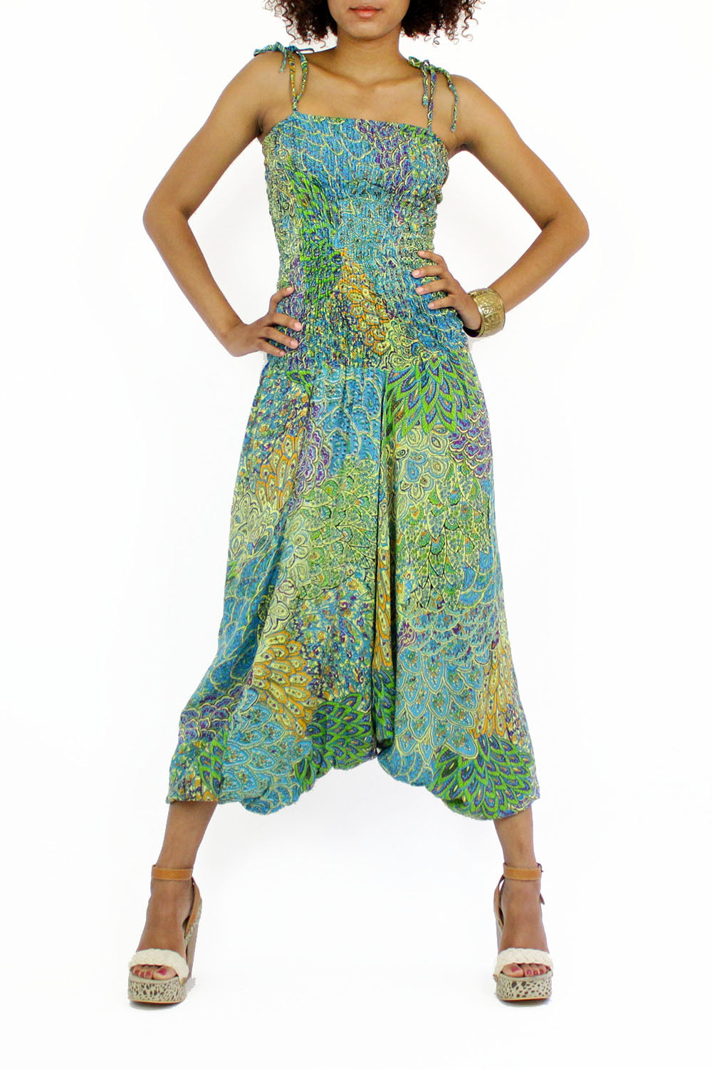 tribal paisley gypsy jumpsuit