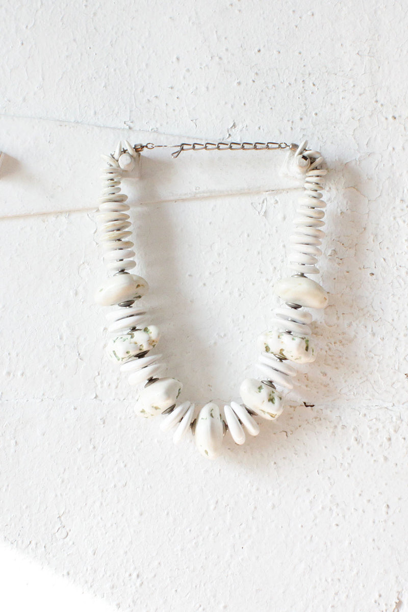 Glazed Chunky Bead Necklace
