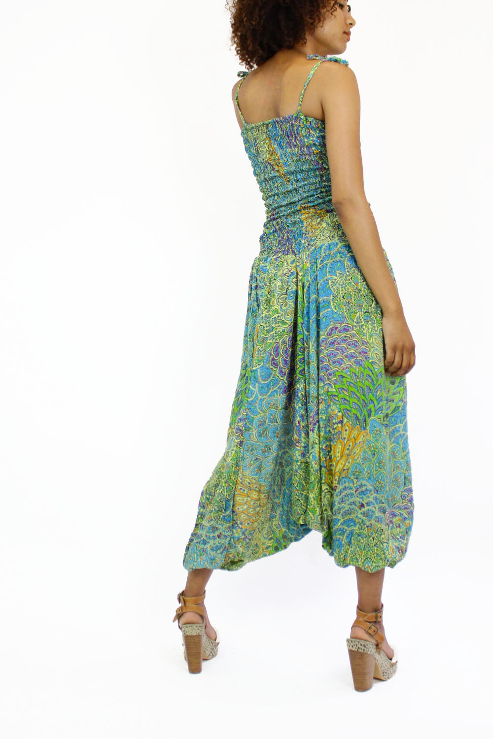 green paisley jumpsuit