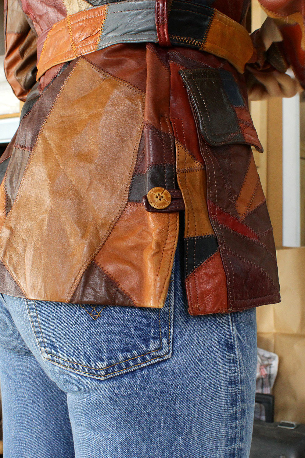 Crazy Quilt Leather Jacket XS/S