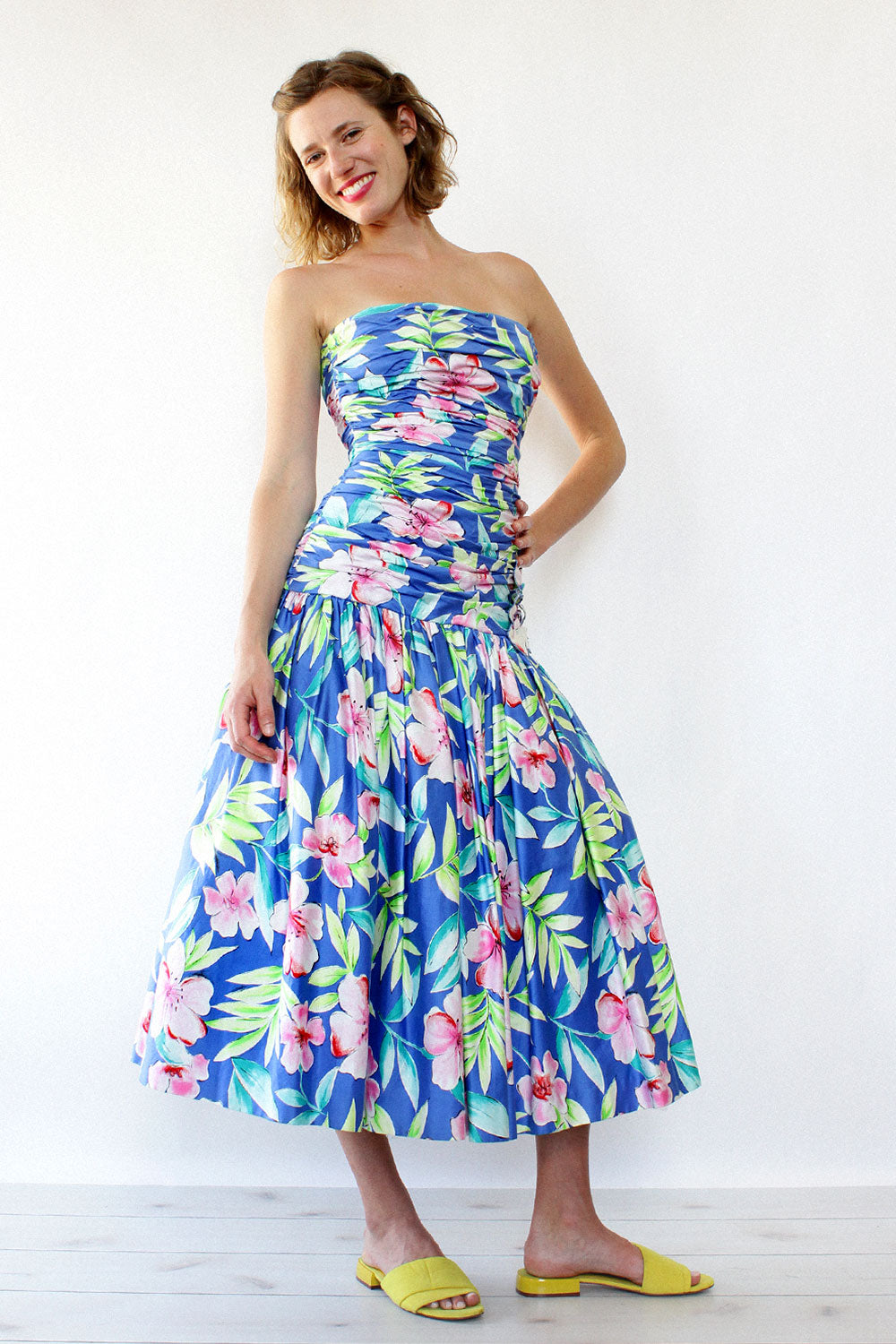 Victor Costa Floral Ballgown S