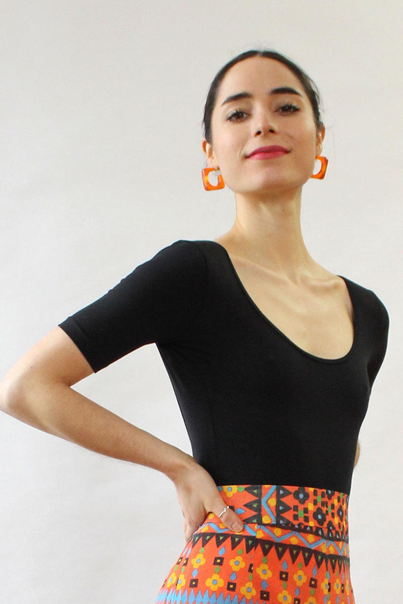 Tangerine Resin Hoops