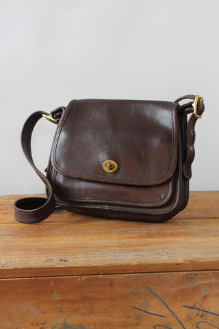 Brass Buckle Coach Tote Bag