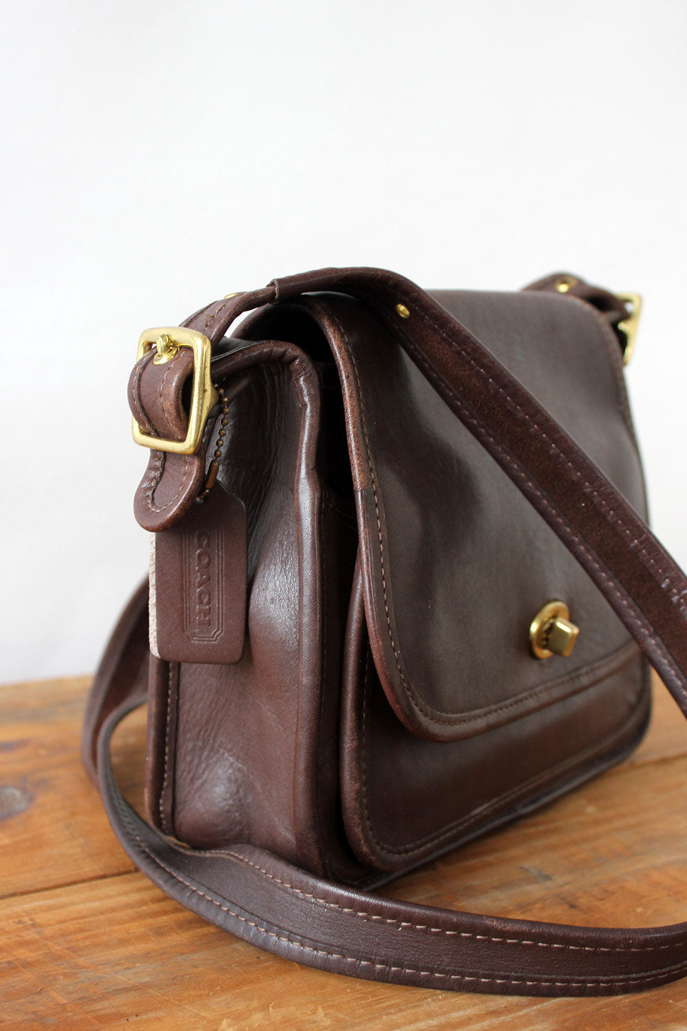 Umber Coach Turnlock Satchel