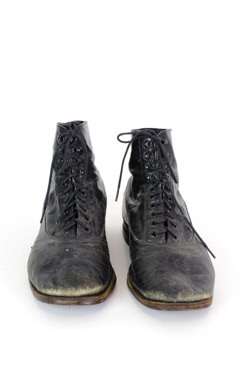 40s Lace Up Leather Boots 8