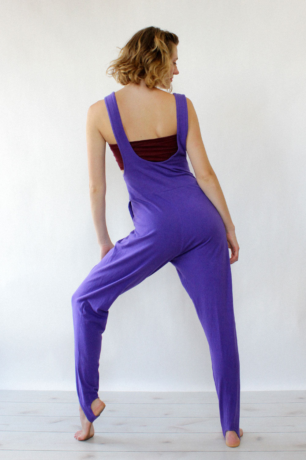 Purple Stirrup Playsuit