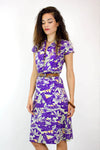 80s Night Jungle Cotton Dress S