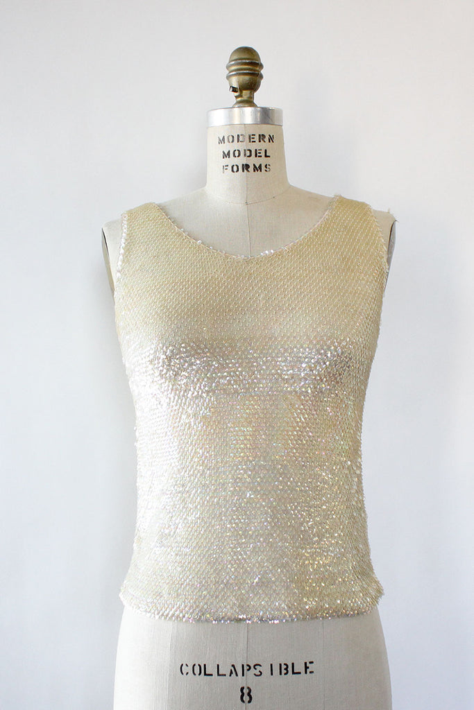 Champagne Sequin Tank XS/S