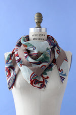 Rainshower Silk Floral Scarf