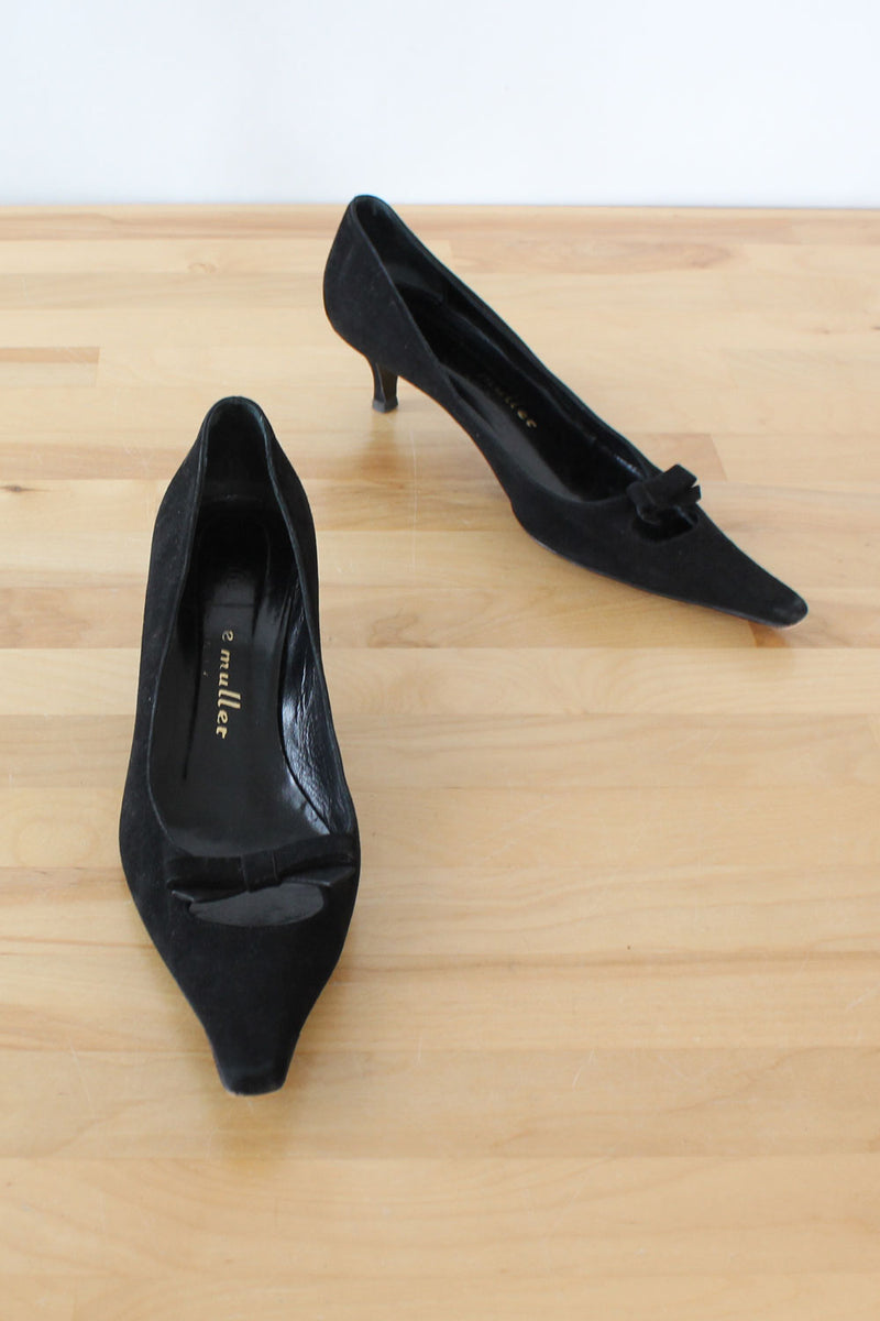 Bettye Mueller Pointy Kitten Heels 7.5-8