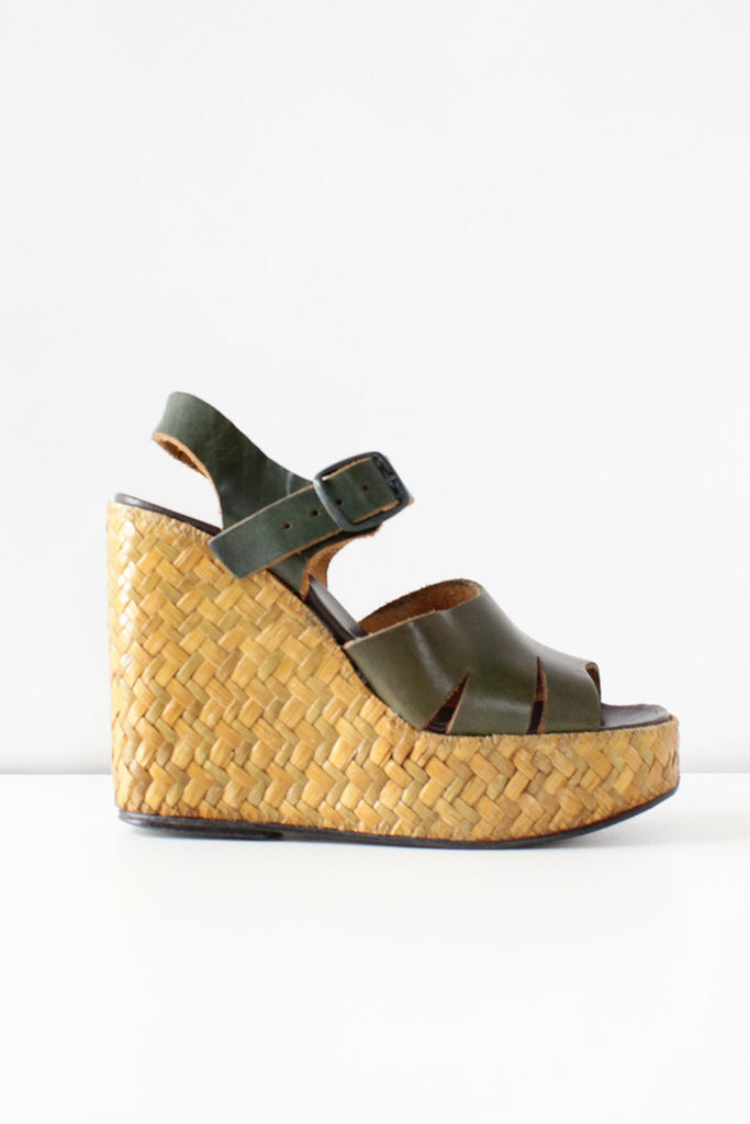 Olive Wicker Platforms 7