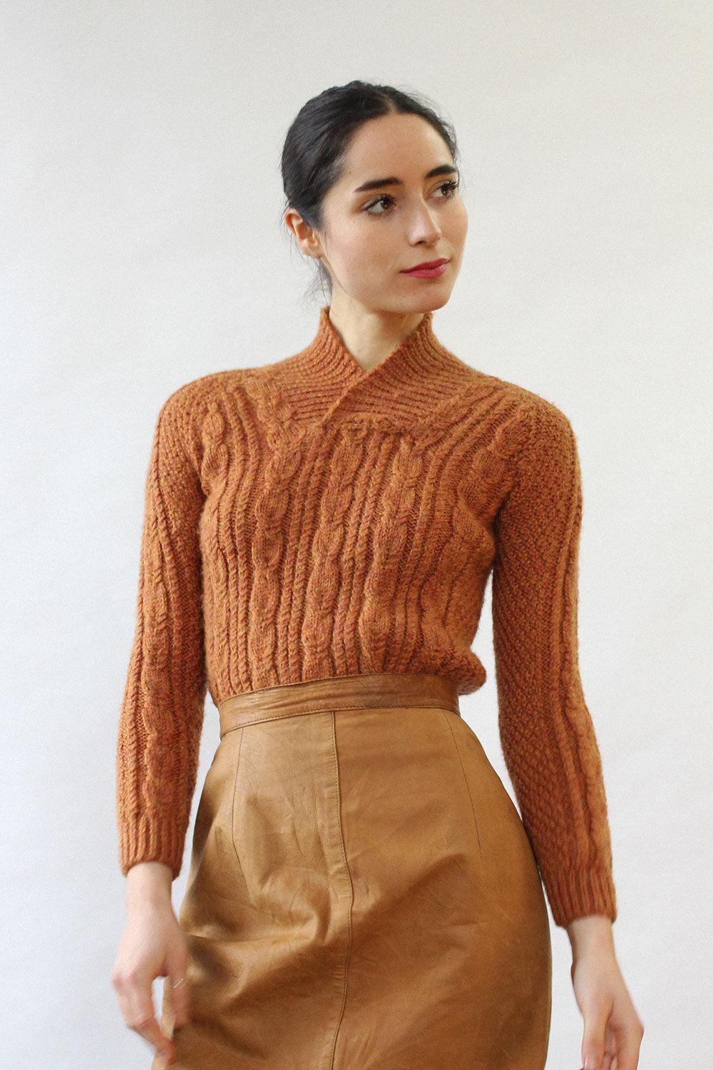 Nutmeg Cable Knit Sweater XS/S