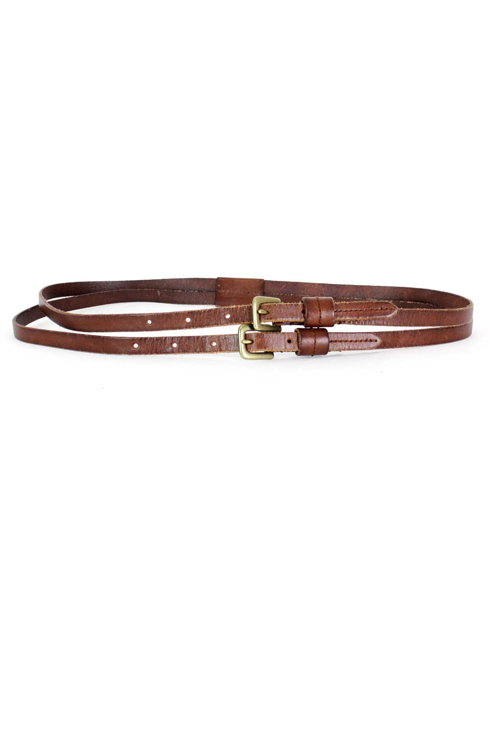 Linea Pelle Double Skinny Belt