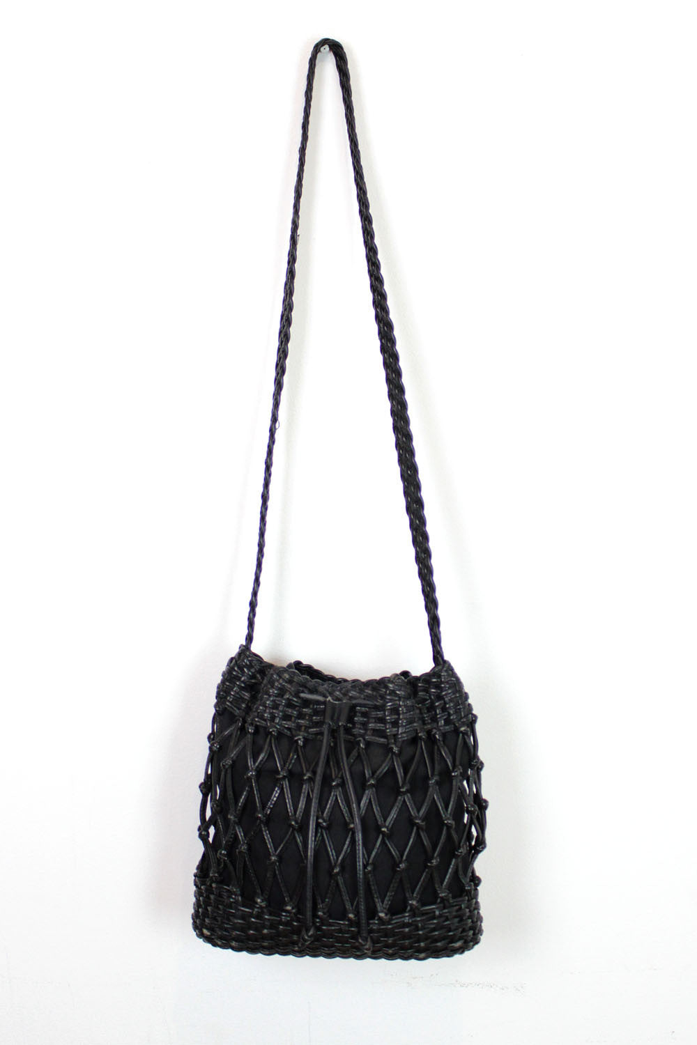 Netted bucket bag