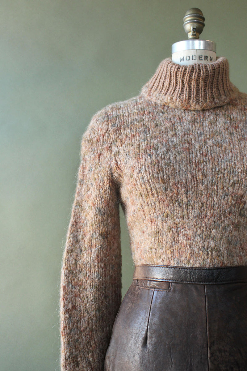Chestnut Wool Turtleneck S/M